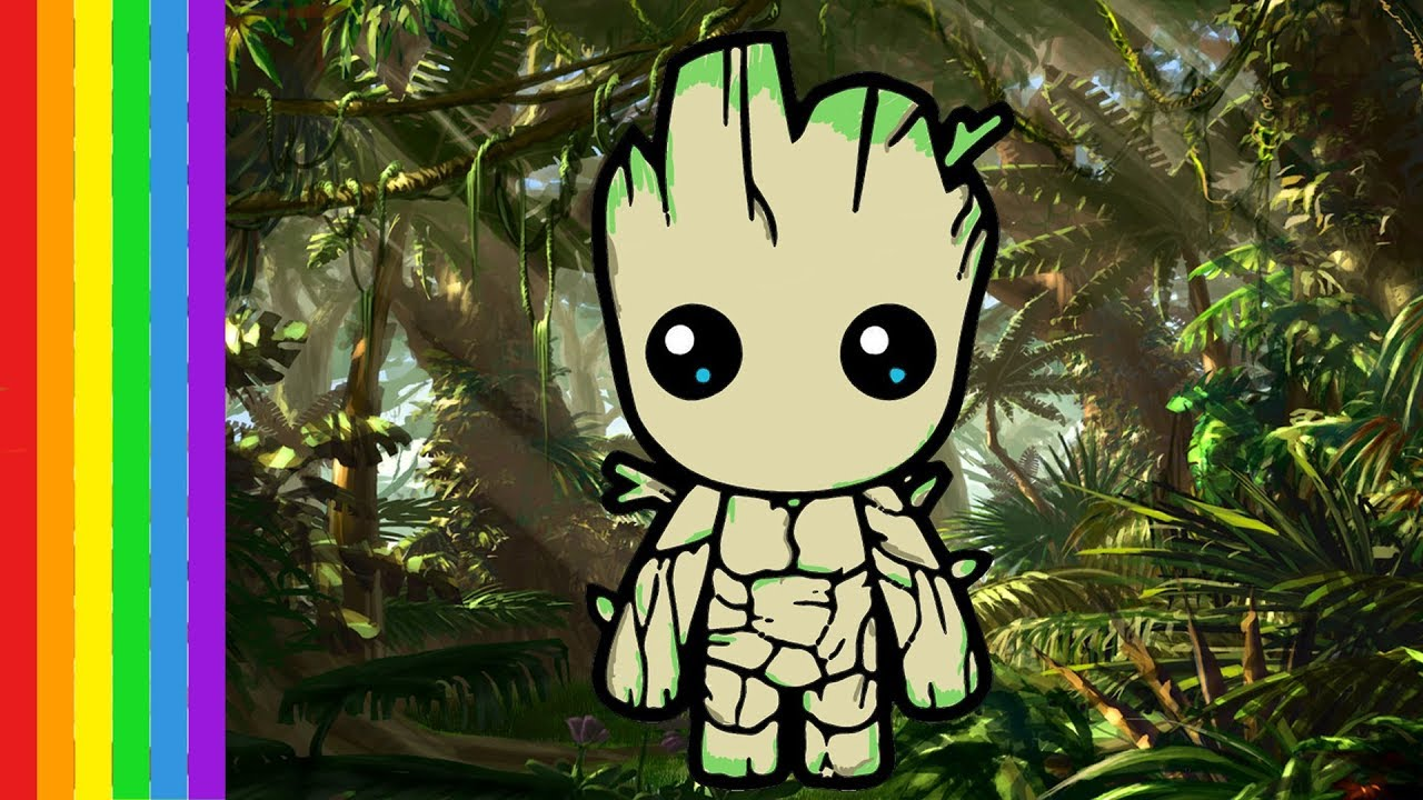 Coloriage Bebe Groot Baby Groot Coloring Pages Children Learn