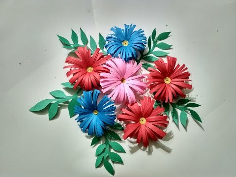 Paper Flower Craft,Make Easy ShowPiece From Dry Branches