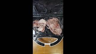[와플기계 요리] 망했어요 붕어빵 틀로 소고기 누르기#…
