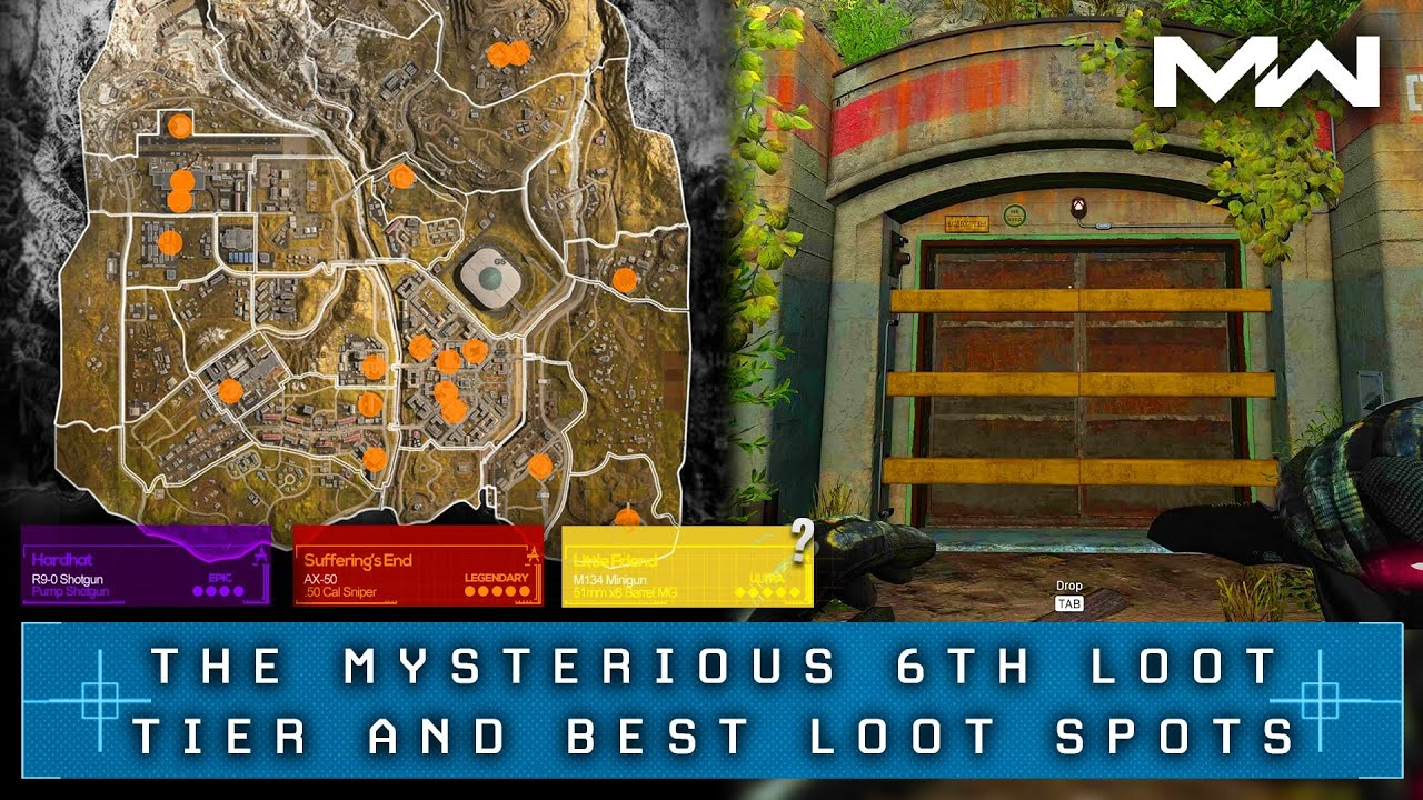 Call Of Duty Warzone The Hidden Tier 6 Loot Best Loot Locations Youtube