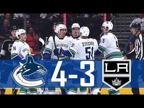 Canucks vs Kings | Pre Season | Highlights (Sept. 16, 2017) [HD]