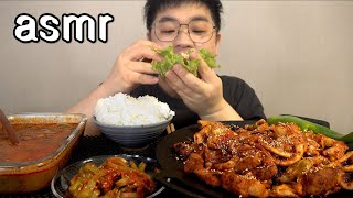 먹방창배tv 진정한 오삼불고기 오징어 삼겹살 가득 맛사운드 대박 레전드 osam bulgogi mukbang Legend koreanfood asmr
