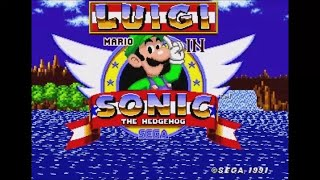 Luigi in Sonic 1 (Genesis) - Longplay