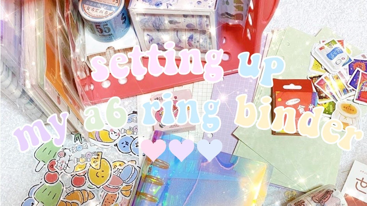 🍒 setting up my a6 hologram ring binder journal | philippines ♪(´ε`)