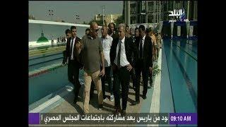 جابر نصار يفتتح حمام السباحة الأوليمبي الجديد بملاعب جامعة القاهرة