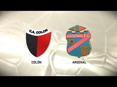 Colón golpeó de entrada y le ganó 1 a 0 a Arsenal con gol de Ledesma