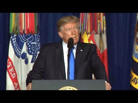 President Trump speech US policy on Afghanistan August 21, 2017.  President Trump speech Fort Meyer