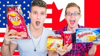 AMERICAN VS CANADIAN FOOD CHALLENGE: TASTE TEST