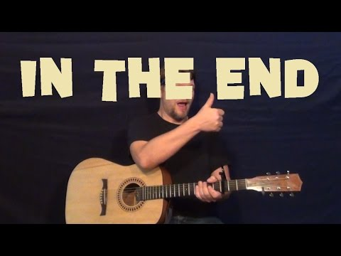 In the End (LINKIN PARK) Guitar Lesson How to Play Easy Strum How to - Em D C G