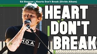 Hearts Don't Break Around Here Piano Tutorial - Free Sheet Music (Ed Sheeran)