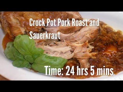 Crock Pot Pork Roast And Sauerkraut Recipe