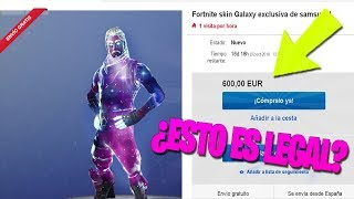 HOW MUCH IS THE SKIN GALAXY WITHOUT NOTE 9? Fortnite Battle Royale
