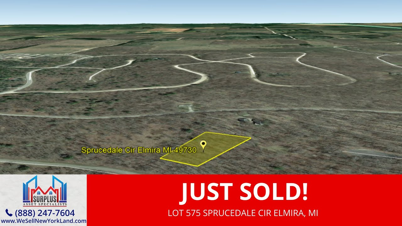 Just Sold By www.WeSellNewYorkLand.com - Lot 575 Sprucedale Cir Elmira, MI - Wholesale Land For Sale