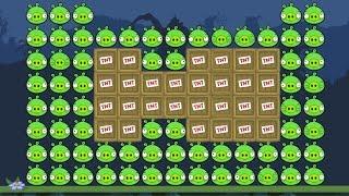 Bad Piggies - 100 PIGGIES EXPERIMENT! (Field of Dreams)