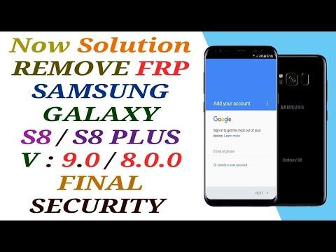 BYPASS FRP SAMSUNG GALAXY S8 SM-G950F ANDROID 9.0 BINARY U4 /FRP G950F U4 V9