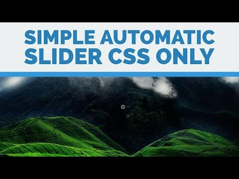 Simple Automatic Slider  - CSS Only