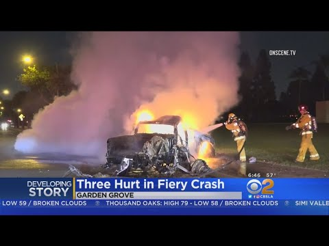 Driver Arrested After Fiery Crash In Garden Grove