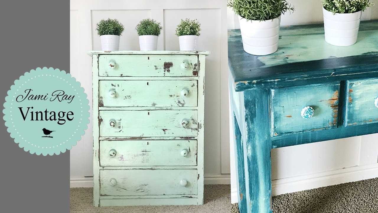 how to do chippy and bohemian paint techniques with diy paint youtube