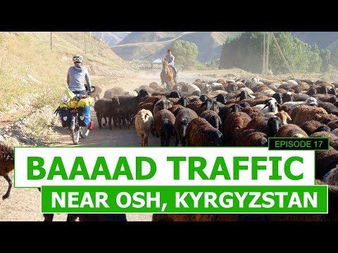 Episode 17 - Baaaad Traffic Near Osh, Kyrgyzstan - EP #17 | Cycling The Silk Road