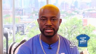 Taye Diggs BLUE SHIRT DAY® WORLD DAY OF BULLYING PREVENTION™ 2017