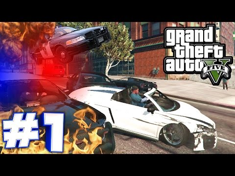 GTA 5 | HOW TO LOSE THE COPS! BANK ROBBERY GETAWAY! Part 1