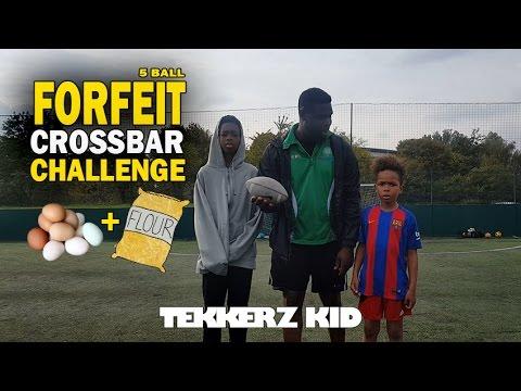 Crossbar Challenge #2!! | Egg & Flour Forfeit!! | Tekkerz Kid