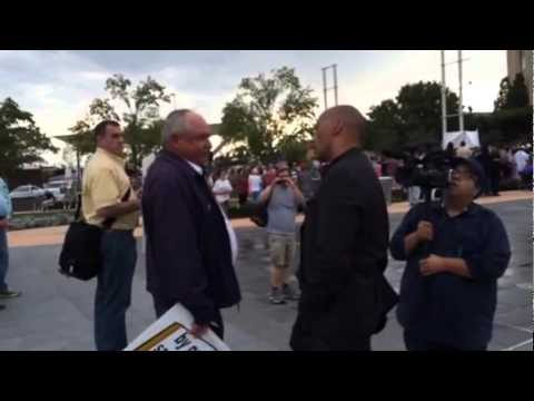 EXCLUSIVE Footage: Satanic Black Mass Protests- Oklahoma City 9/21/2014