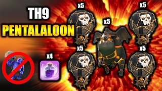 TH9 PENTALALOON | Lavaloon 3 Star War Attack Strategy 2017 | NO BOWLERS REQUIRED | Clash of Clans