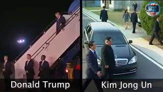 Donald Trump VS Kim Jong Un - مقارنة بين موكب ترامب وموكب كيم جونغ أون