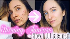 MORNING SKINCARE ROUTINE 2017 + How I Oil Cleanse With Hemp Oil