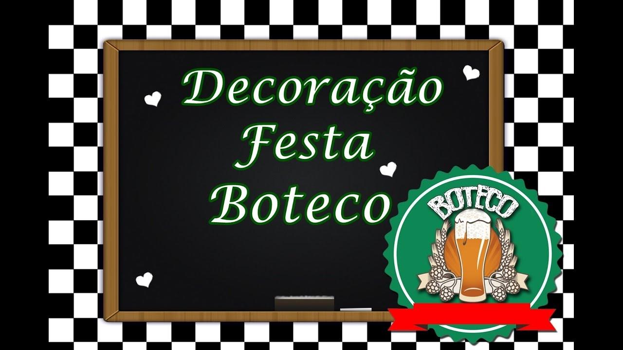 Aparador Rustica De Madeira ~ Decoraç u00e3o Festa do Marido Tema Boteco #Nessapor7Dias 2 YouTube