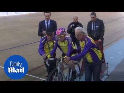 105-year-old Frenchman sets cycling world record - Daily Mail