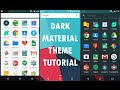 DARK MATERIAL Launcher + Best FREE ICON PACK - [TUTORIAL]