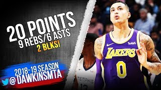 Kyle Kuzma Full Highlights 2018 12 08 Lakers vs Grizzlies   20 Pts 6 Asts 2 Blks! FreeDawkins