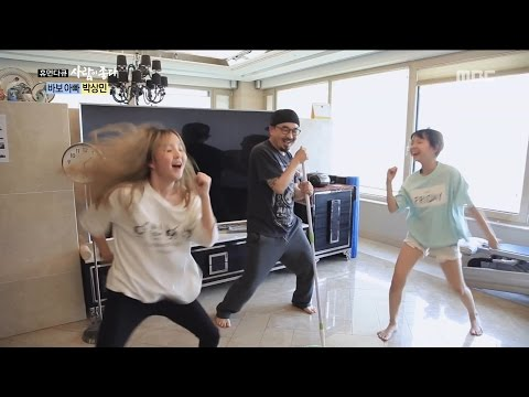 [Human Documentary People Is Good] 사람이 좋다 -Park Sang-min dance with daughter 20170514