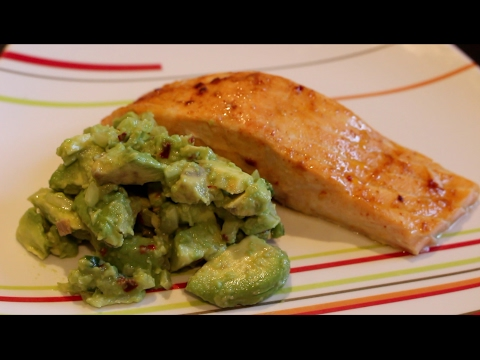 Baked Salmon with Salsa