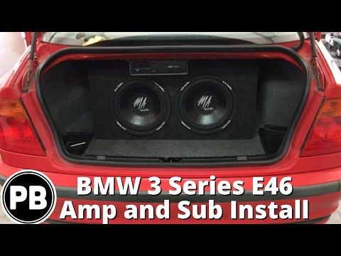 1999 - 2004 BMW 3 Series E46 Sub and Amp Install - YouTube