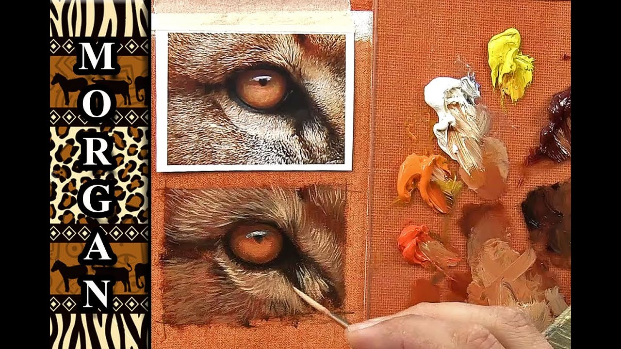 How to Paint Animal Eyes Demo tutorial wildlife art Jason