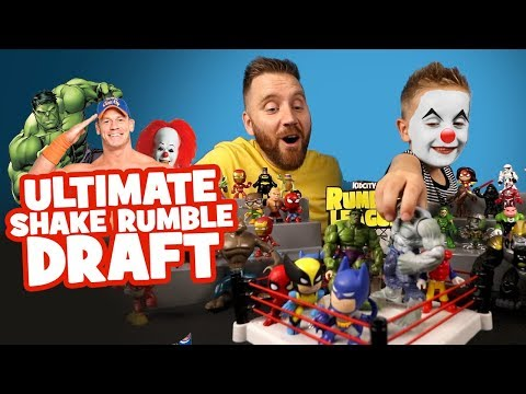 Ultimate Shake Rumble Draft! Marvel Spider-Man Toys, IT, HULK, Batman & Justice League & ROBLOX!