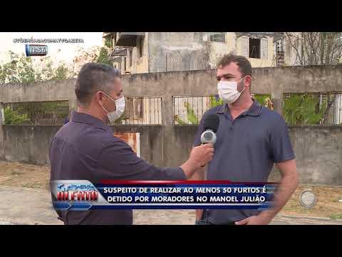 Suspeito de realizar ao menos 50 furtos é detido por moradores no Manoel Julião
