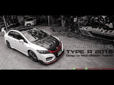 ชุดแต่ง Honda Civic FD ทรง Type R15 จาก NEKKETSU racing