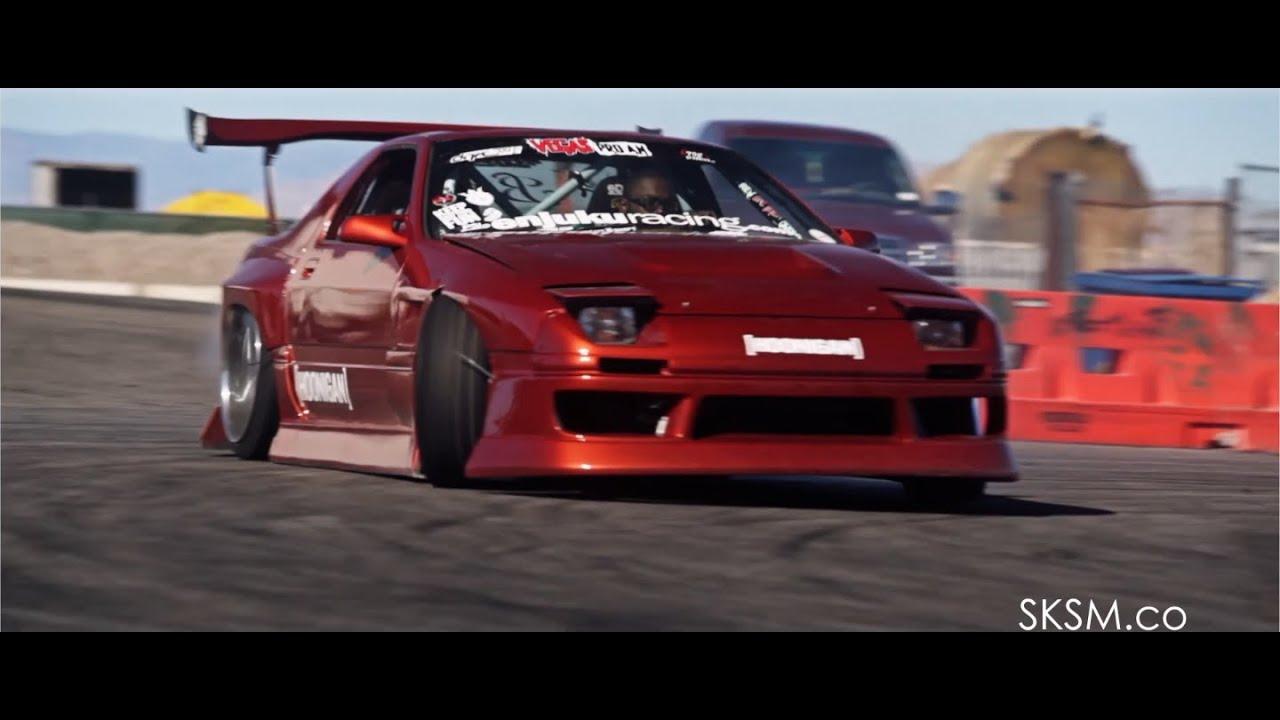 Hoonin' With Hertrech | V8 RX7 Drift | SKSM.CO | HOONIGAN - YouTube