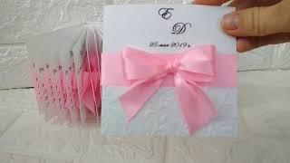 Пригласительные на свадьбу в розовом цвете