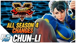 Chun-Li SFV Season 4 Changes - Street Fighter 5 Arcade Edition