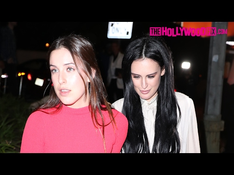 Rumer & Scout Willis Attend The GQ Magazine Grammy Party At The Chateau Marmont 2.12.17