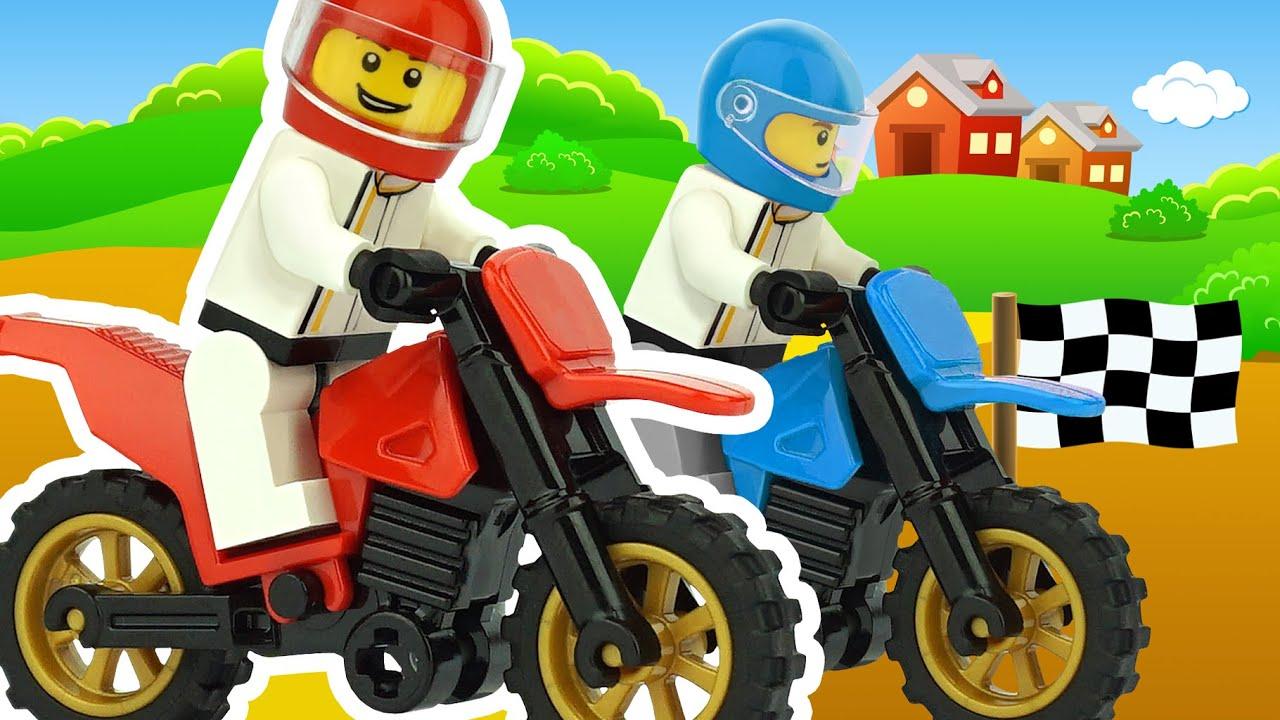 Мультик Мотоцикл. Гонки на мотоциклах, мотокросс. Развивающий мультфильм.