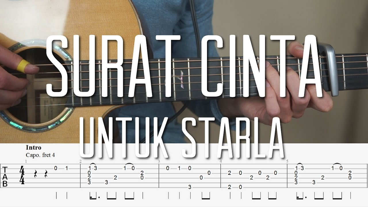 Virgoun Surat Cinta Untuk Starla Fingerstyle Guitar Tutorial Lesson Tabs