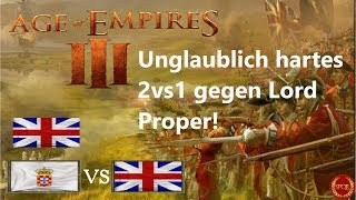 Age of Empires III hartes 2vs1 gegen LordProper mit Paddl [Deutsch/HD]
