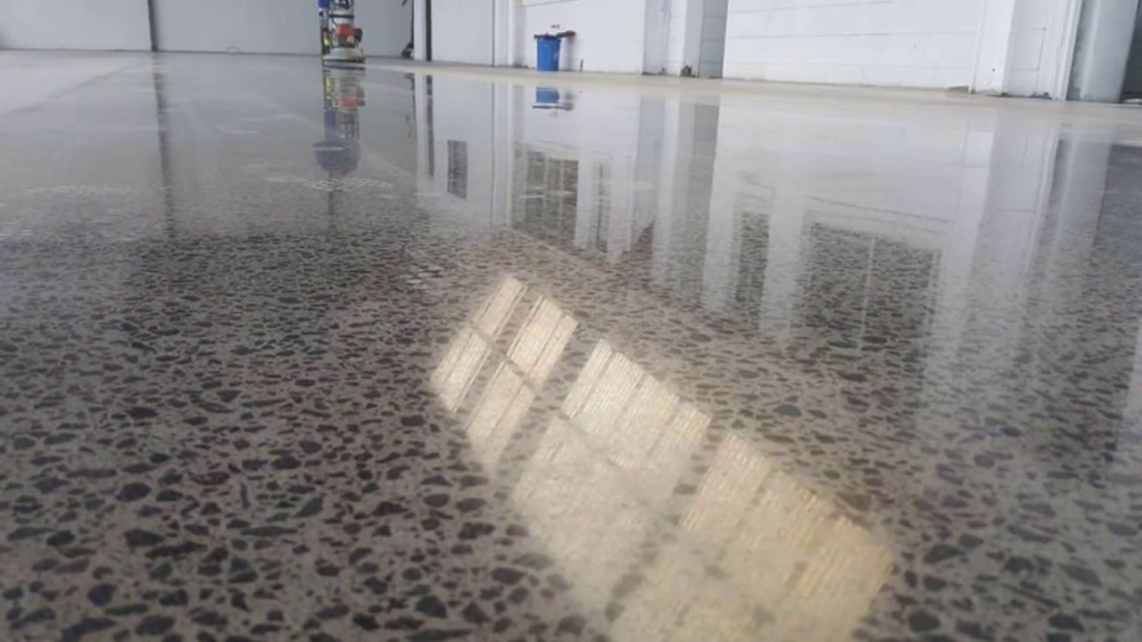 polished concrete floors auckland new zealand youtube