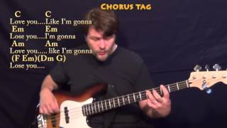 Like I'm Gonna Lose You (Meghan Trainor) Bass Guitar Cover Lesson with Chords/Lyrics
